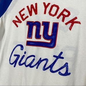 Junk Food Clothing Tops - Junk Food NFL NY Giants Baseball Tee
